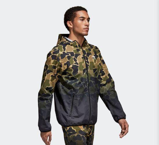 Jaqueta Corta-Vento Adidas Camouflage - Overcome Clothing 18a3439e7dc95