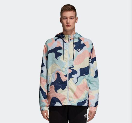 f08ab092412 Jaqueta Corta-Vento Adidas Printed - Overcome Clothing