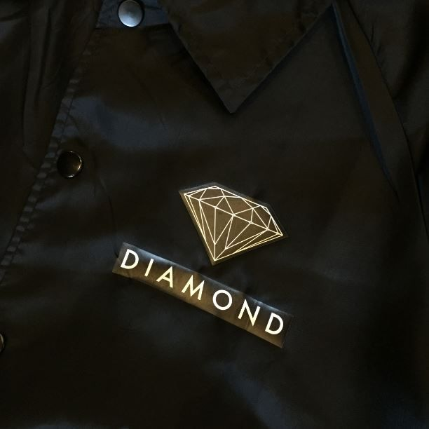 """Jaqueta Corta Vento Diamond """"Futura Sign"""" Preto"""