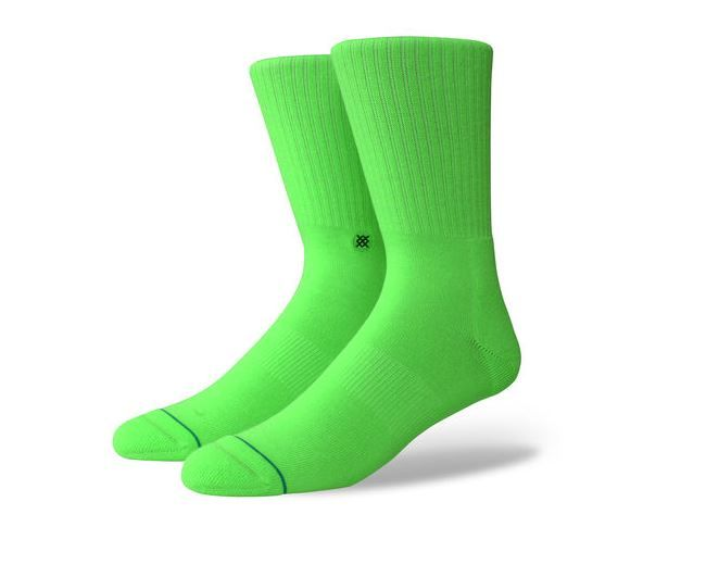 """Meia Stance """"Icon Anthem Florescent Green"""""""
