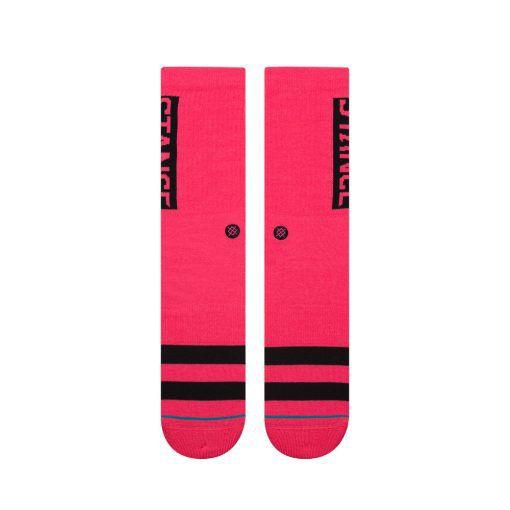 """Meia Stance """"OG"""" Neon Pink"""