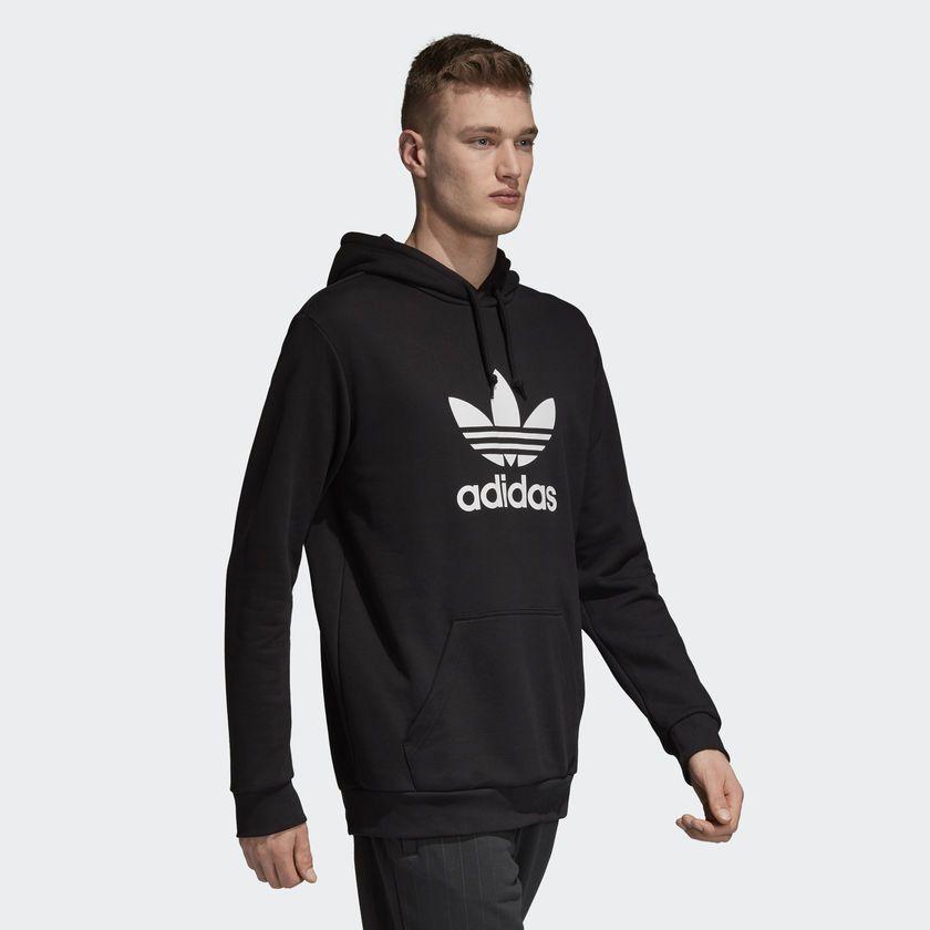 534cfbd18b Moletom Adidas Capuz Trefoil Preto - Overcome Clothing