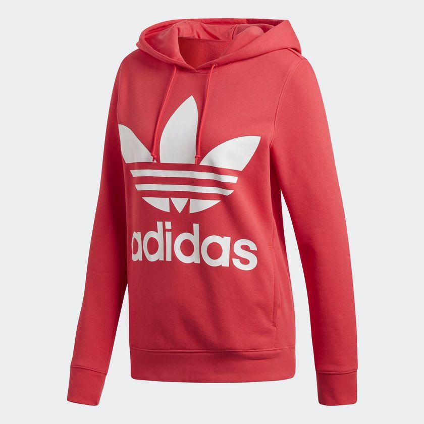 6324bb6b48 Moletom Adidas Capuz Trefoil W Rosa - Overcome Clothing