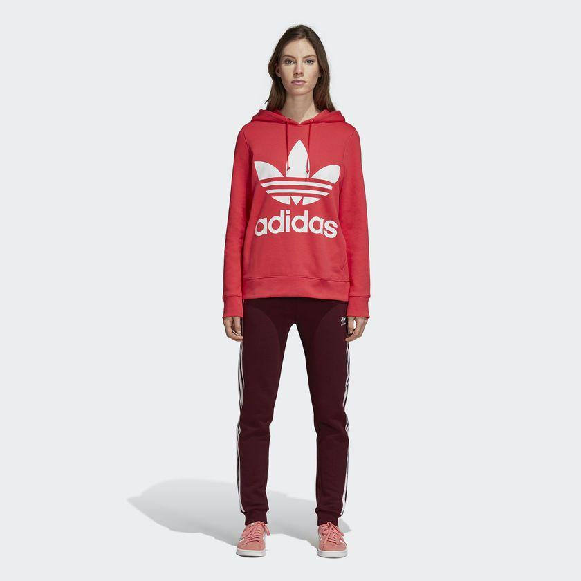ba15407f1d4 Moletom Adidas Capuz Trefoil W Rosa - Overcome Clothing