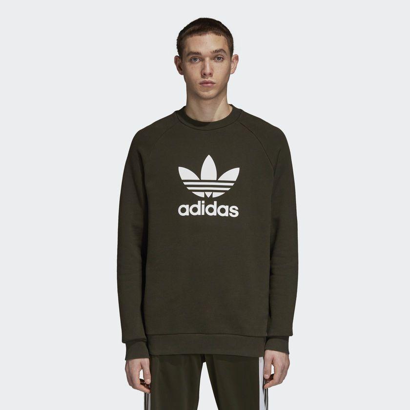 b618759a8b9 Moletom Adidas Crew Verde - Overcome Clothing