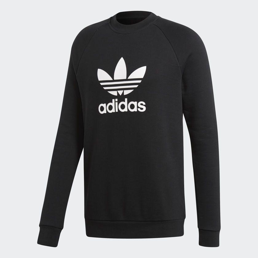 4ee42d5f8f0 Moletom Adidas Warm-Up Crew Preto - Overcome Clothing