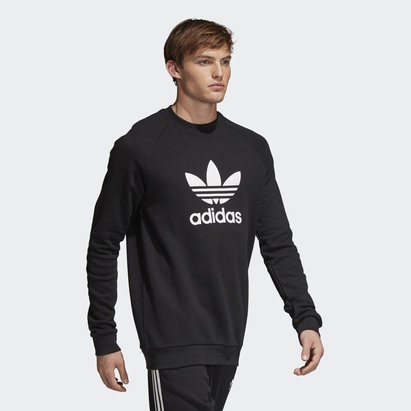 01070465642 Moletom Adidas Warm-Up Crew Preto - Overcome Clothing