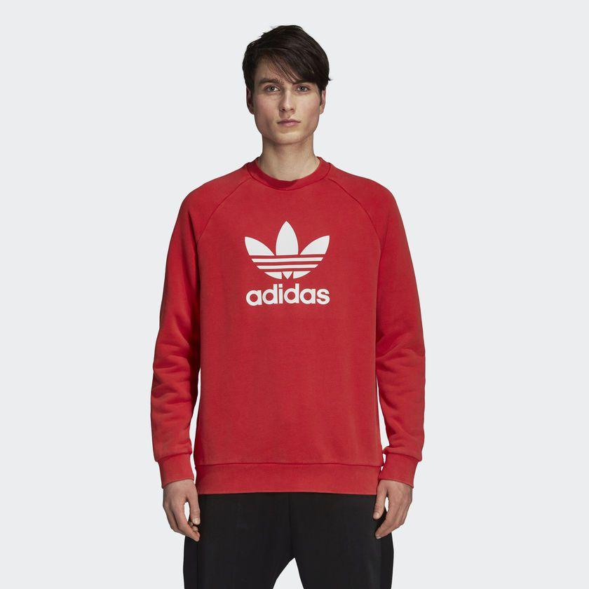 779afb27d2a Moletom Adidas Warm-Up Crew Vermelho - Overcome Clothing