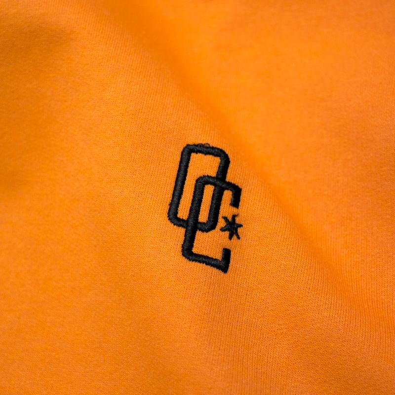 """Moletom Overcome Canguru """"Logo"""" Laranja"""