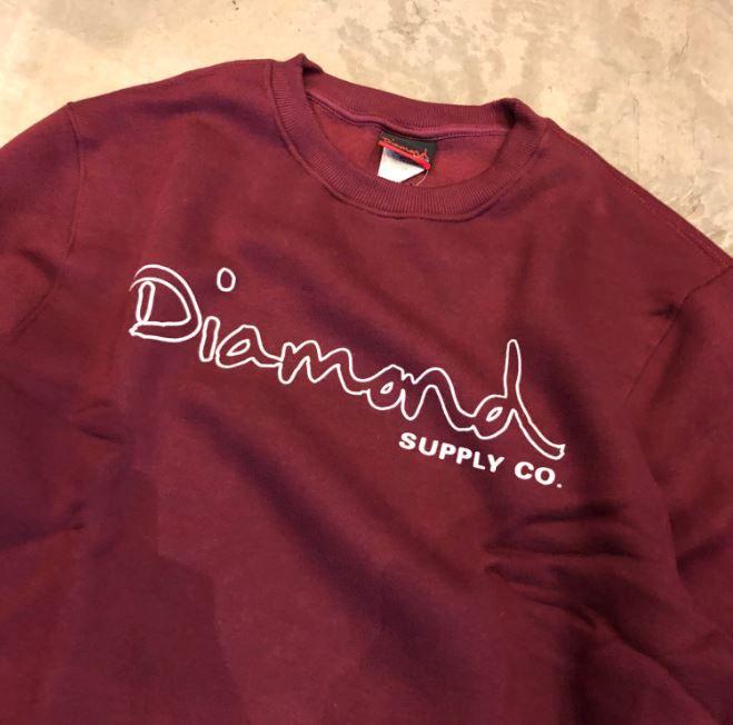 "Moletom Careca Diamond ""logo bypassed"" Bordô"