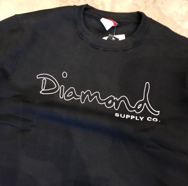 "Moletom Careca Diamond ""Logo Bypassed"" Preto"