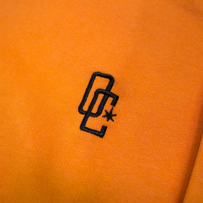 """Moletom Overcome Careca """"Logo"""" Laranja"""