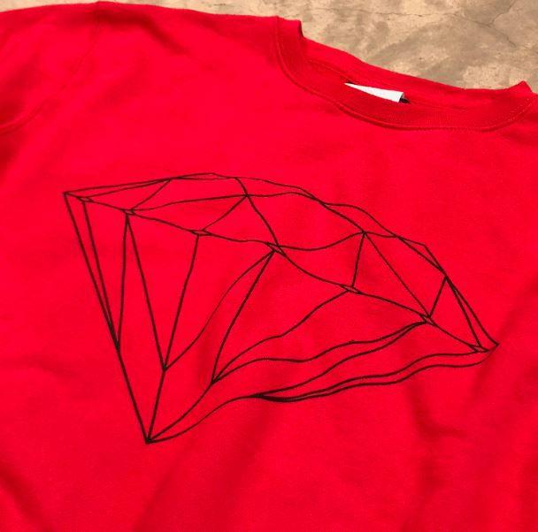 """Moletom Diamond Careca """"Og Diamond"""" Vermelho"""