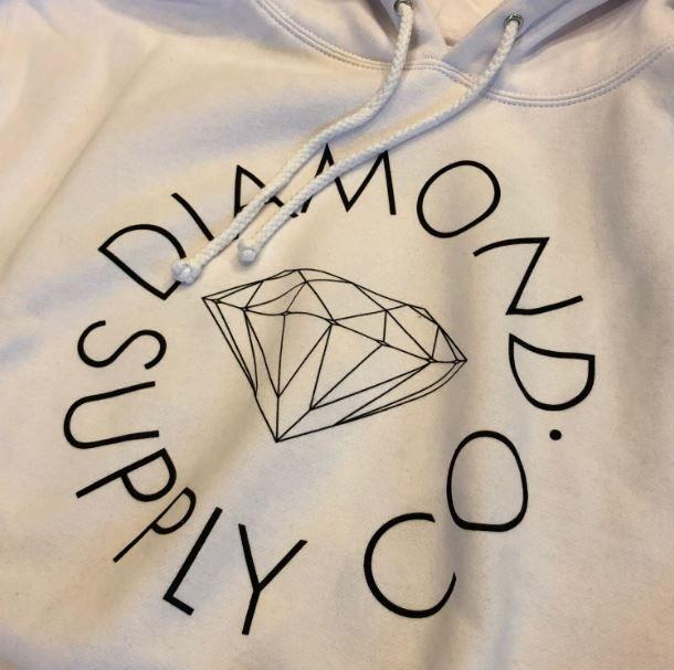"Moletom Diamond ""Circle Logo"" Branca"