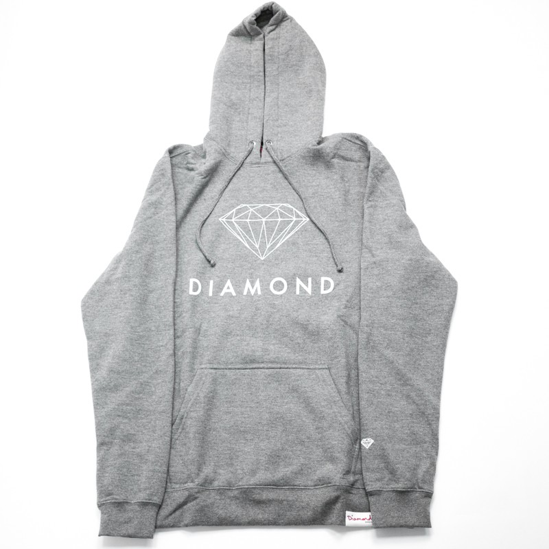"Moletom Diamond ""Futura Sign"" Cinza"