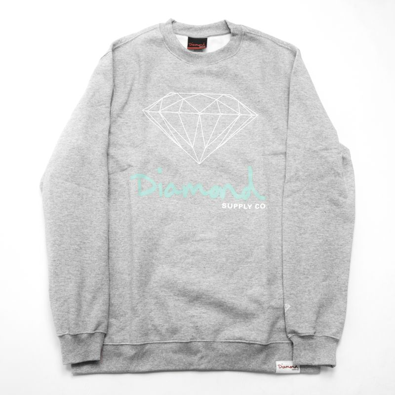 "Moletom Diamond ""Logo"" Cinza"