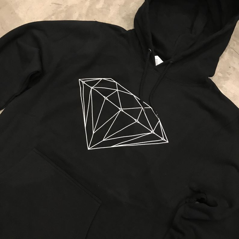 "Moletom Diamond ""Og Diamond"" Preto"