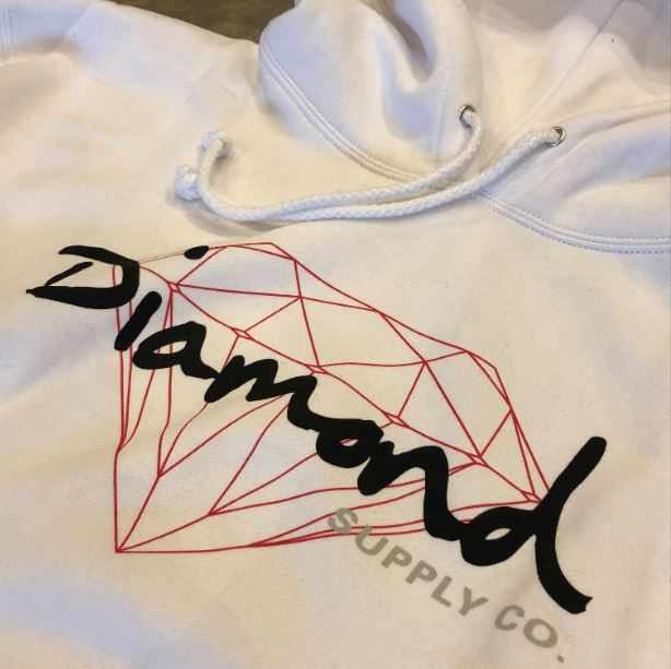 "Moletom Diamond ""OG Logo"" Branco"