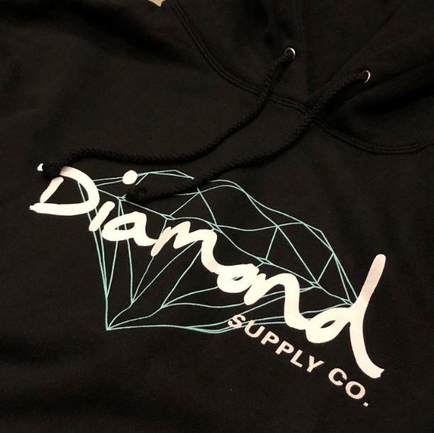 """Moletom Diamond """"OG Logo"""" Preto"""