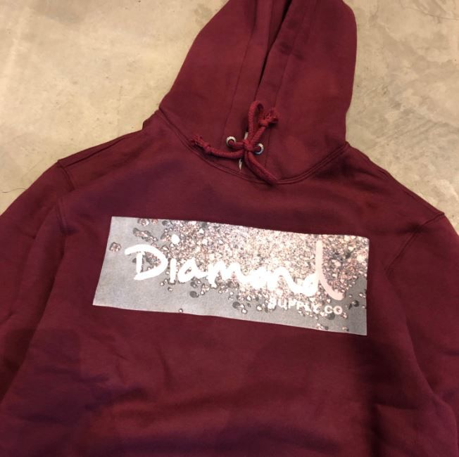 "Moletom Diamond ""Scattered Box Logo"" Bordô"