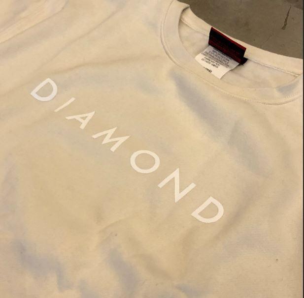 "Moletom Diamond ""SCRIPT"" Creme"
