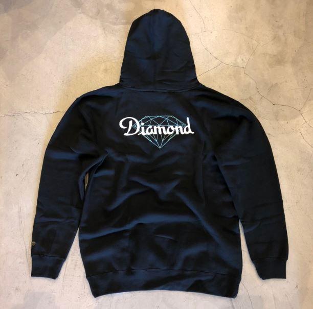 """Moletom Diamond """"Script Logo"""" Preto"""