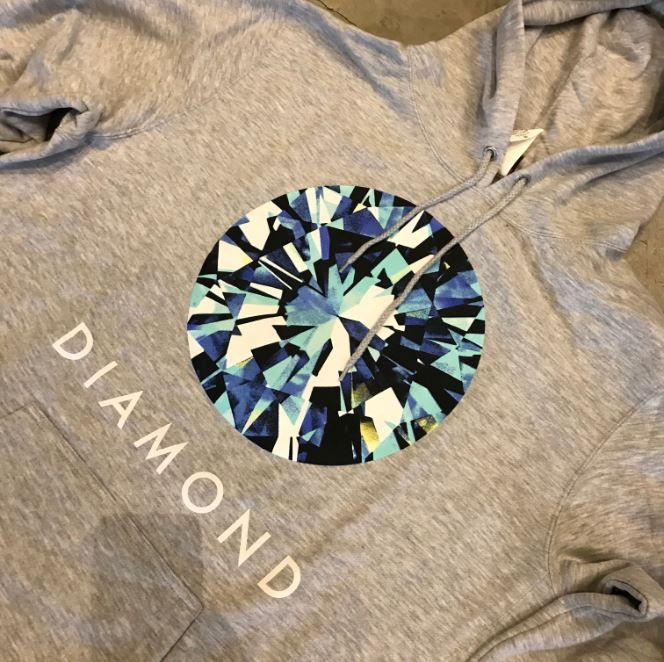 "Moletom Diamond ""Simplicity Pack"" Cinza"