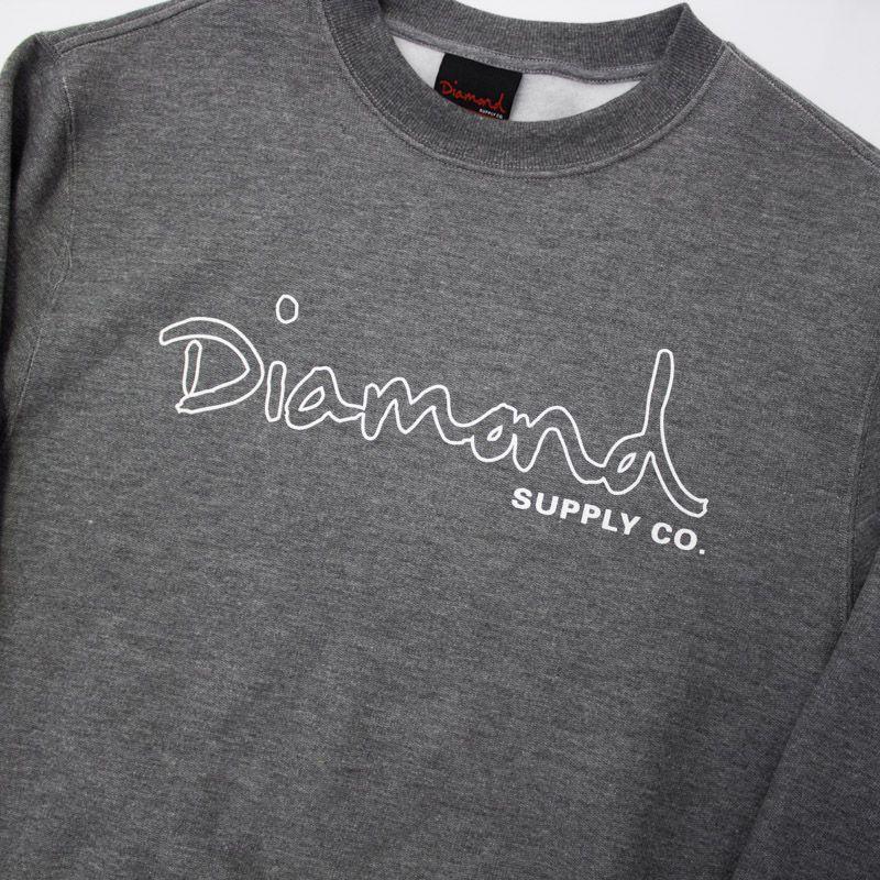 "Moletom Careca Diamond ""logo bypassed"" Cinza"