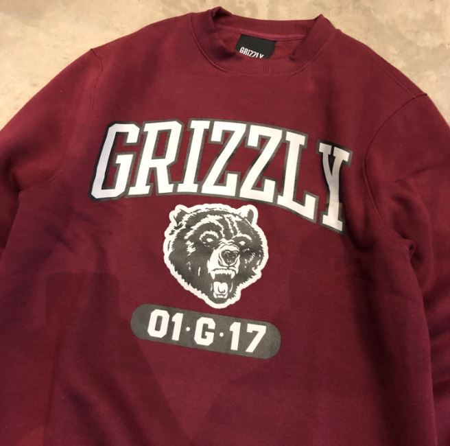 """Moletom Grizzly """"Halftime"""" Bordô"""