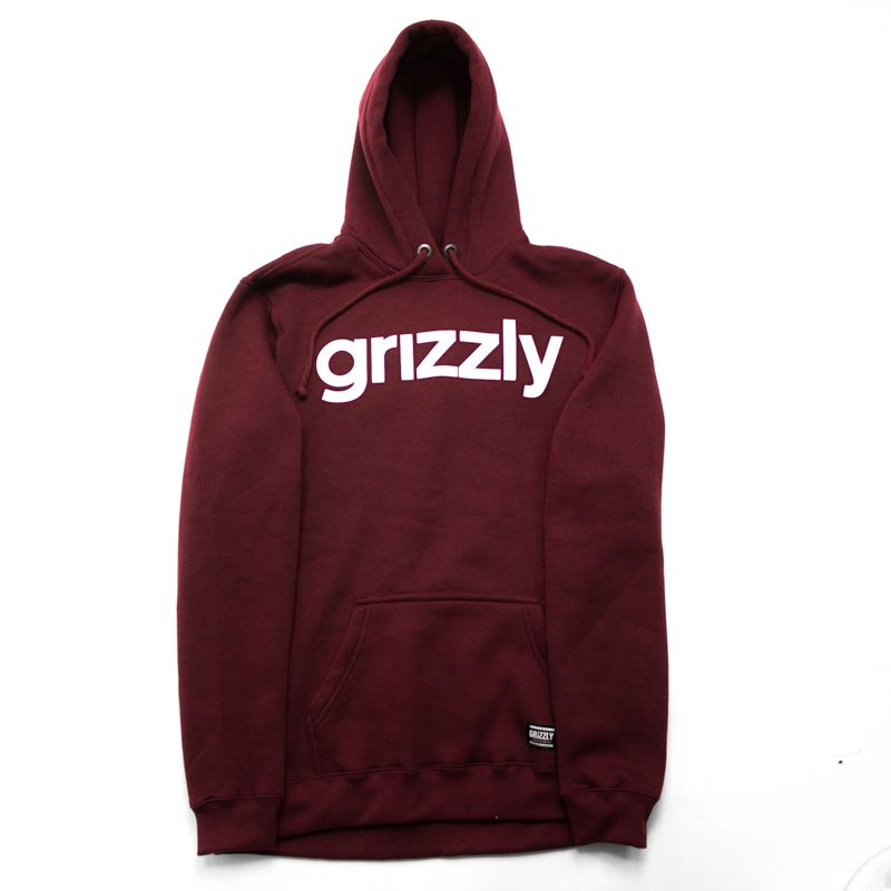 "Moletom Grizzly ""Lowercase Logo"" Bordô"