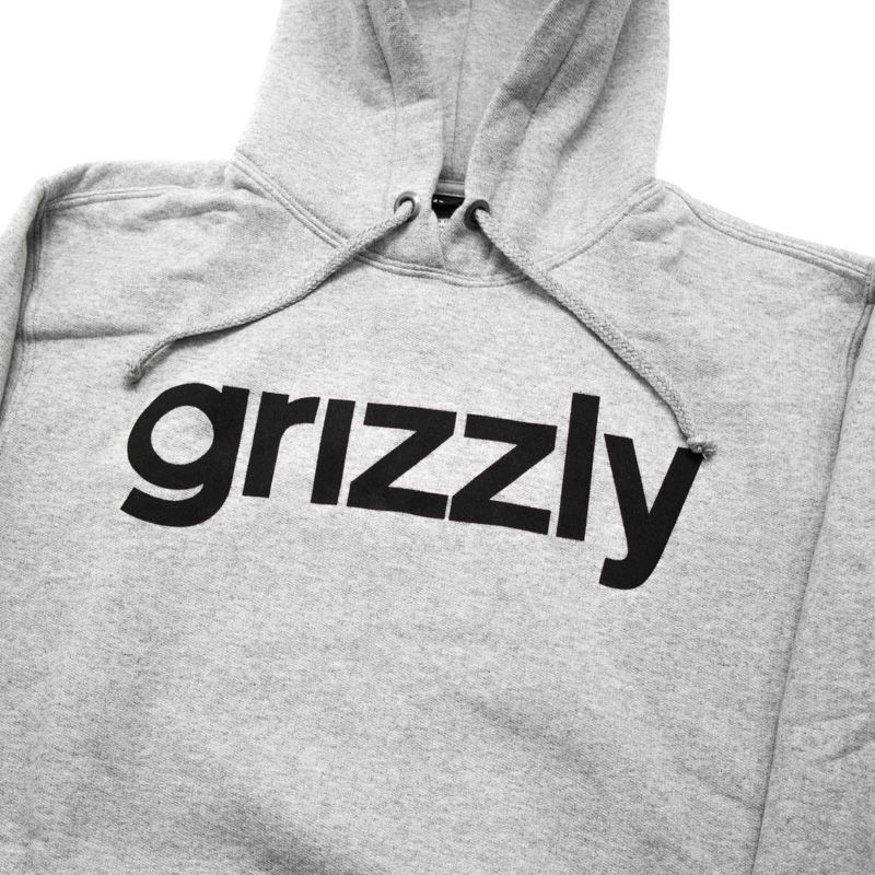 "Moletom Grizzly ""Lowercase Logo"" Cinza"