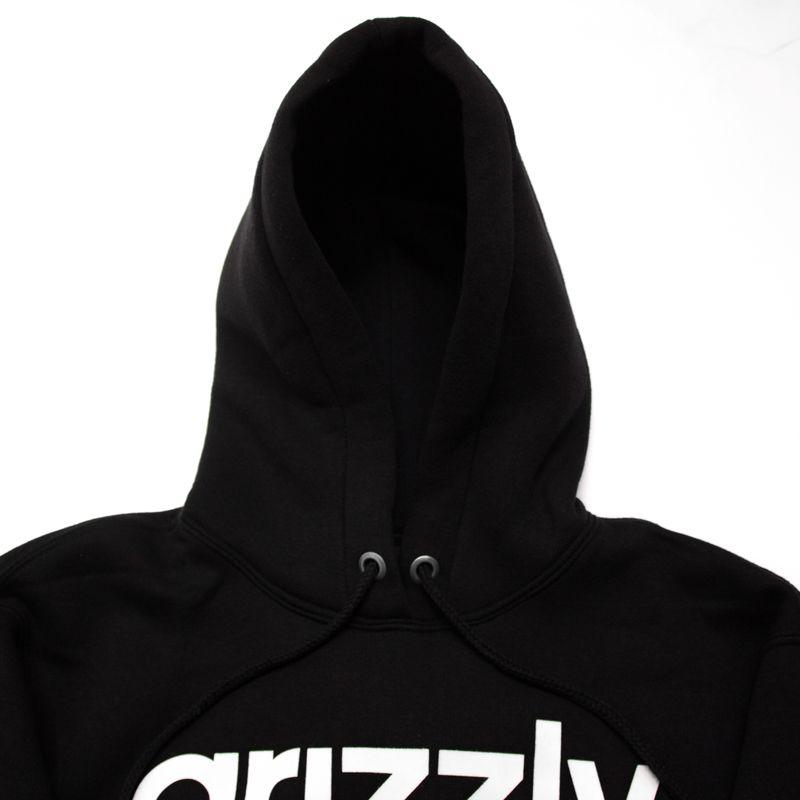 "Moletom Grizzly ""Lowercase Logo"" Preto"