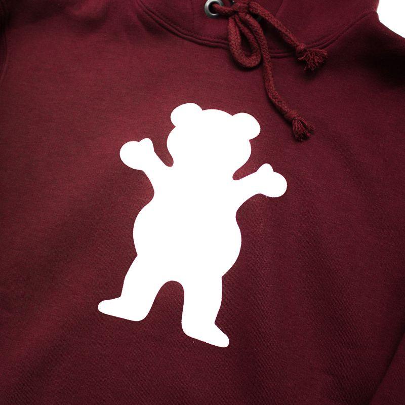 """Moletom Grizzly """"OG Bear"""" Bordô"""