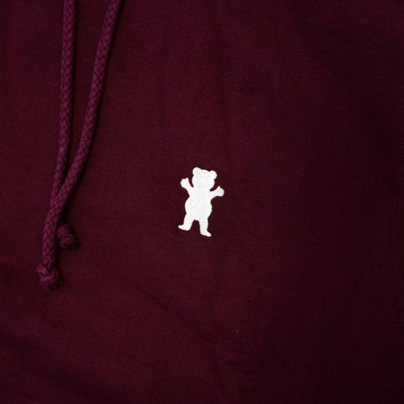 """Moletom Grizzly """"OG Bear Embroidered"""" Bordô"""