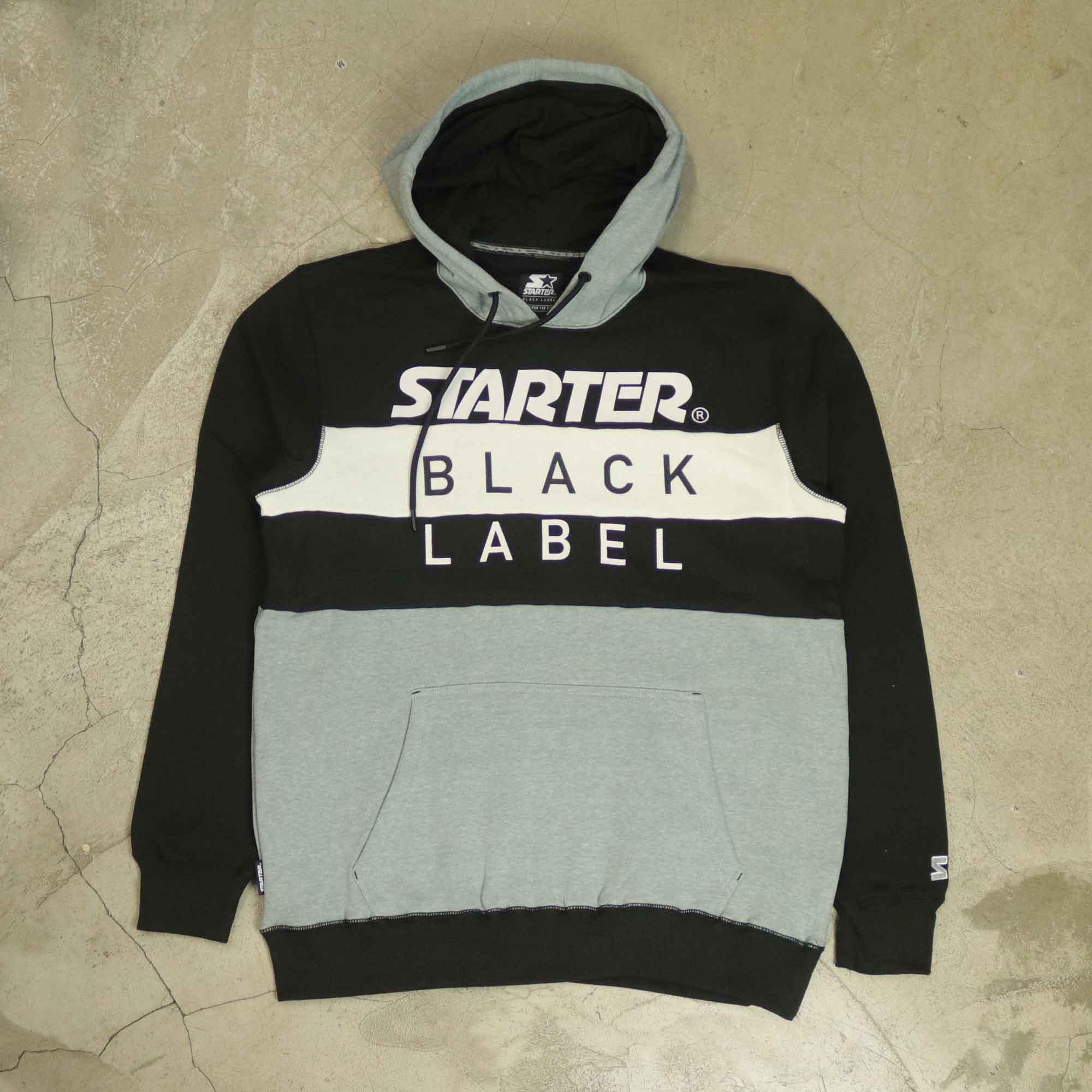"""Moletom Starter """"Black Label"""" Cinza/Preto"""