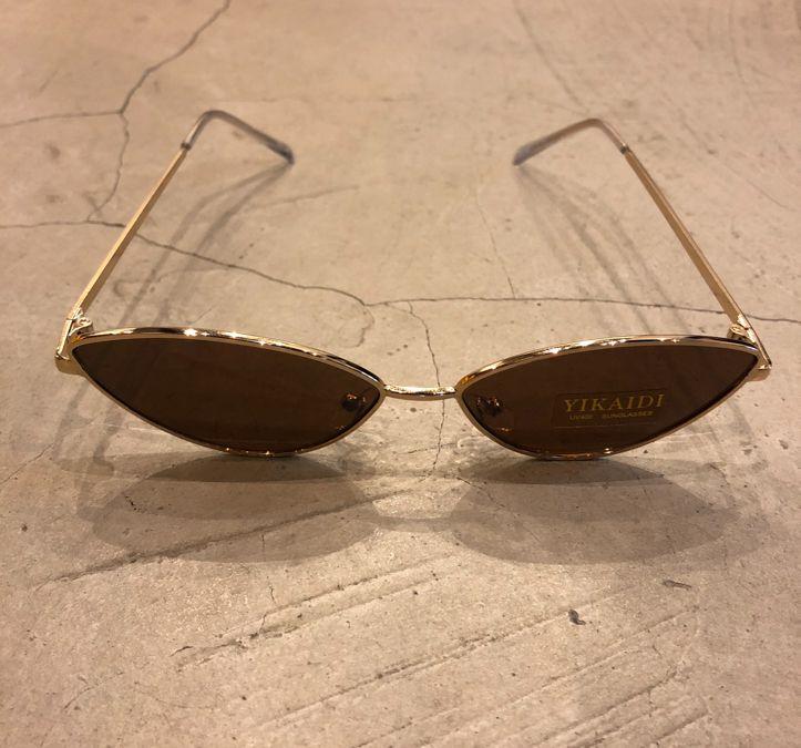 """Óculos Vintage """"Cat"""" Dourado/Marrom"""