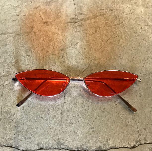 "Óculos Vintage ""Cat"" Rose/Vermelho"