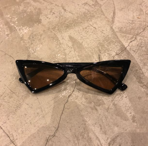 """Óculos Vintage """"Dope Cat"""" Preto/Marrom"""