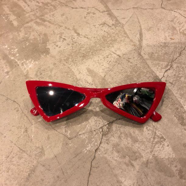 "Óculos Vintage ""Dope Cat"" Vermelho/Prateado"
