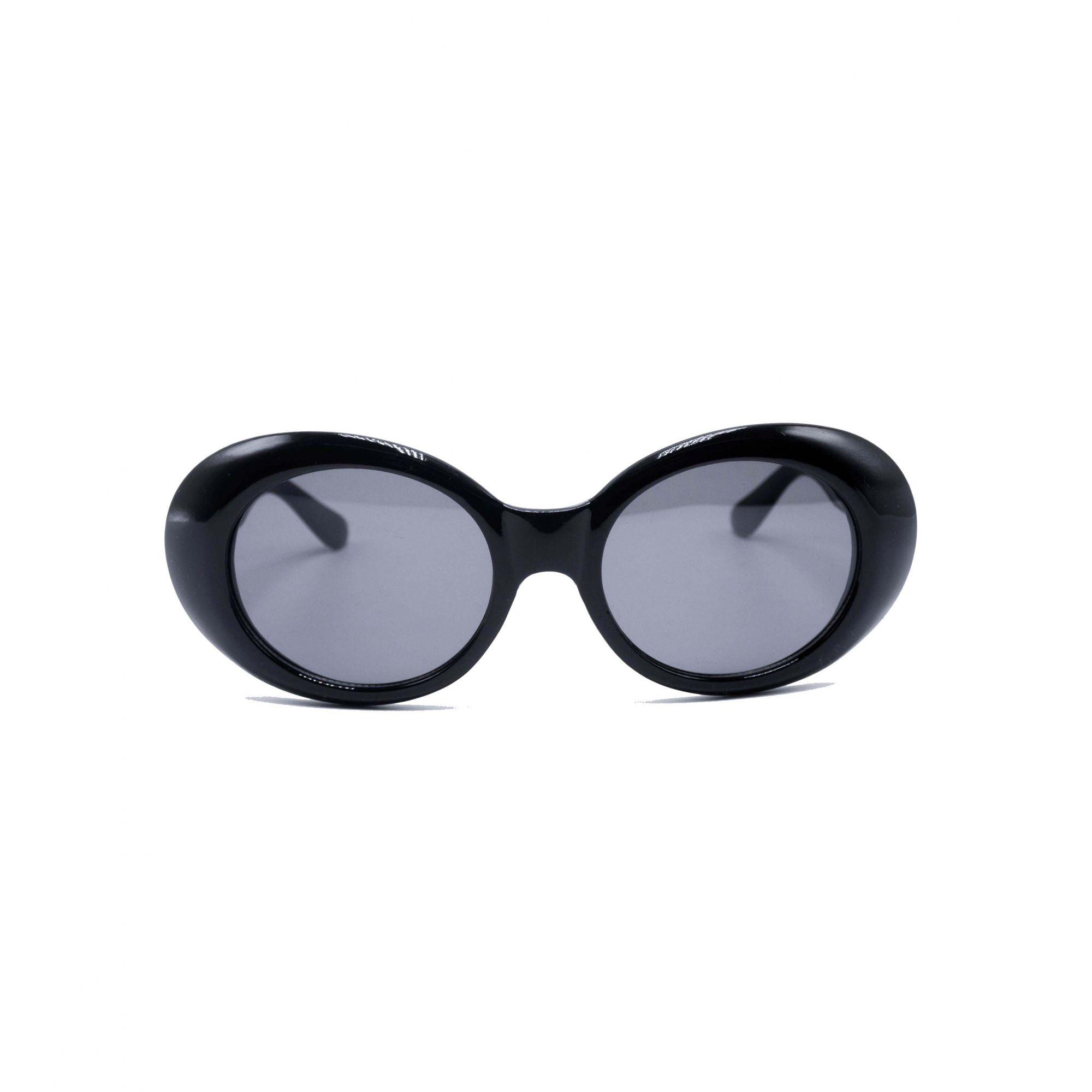 """Óculos Vintage """"KC"""" Preto"""