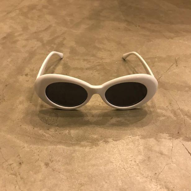 """Óculos Vintage """"KC"""" Branco"""