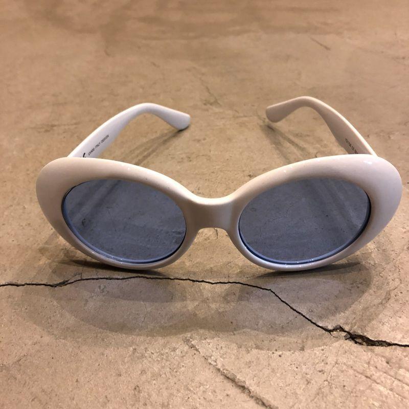 """Óculos Vintage """"KC"""" Branco/Azul"""