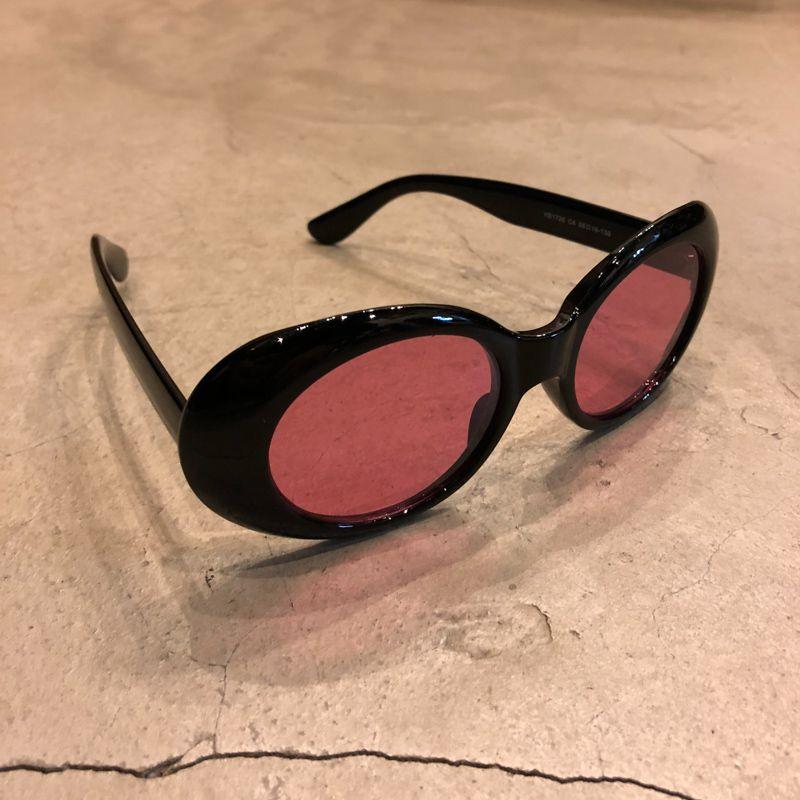 """Óculos Vintage """"KC"""" Preto/Rosa"""