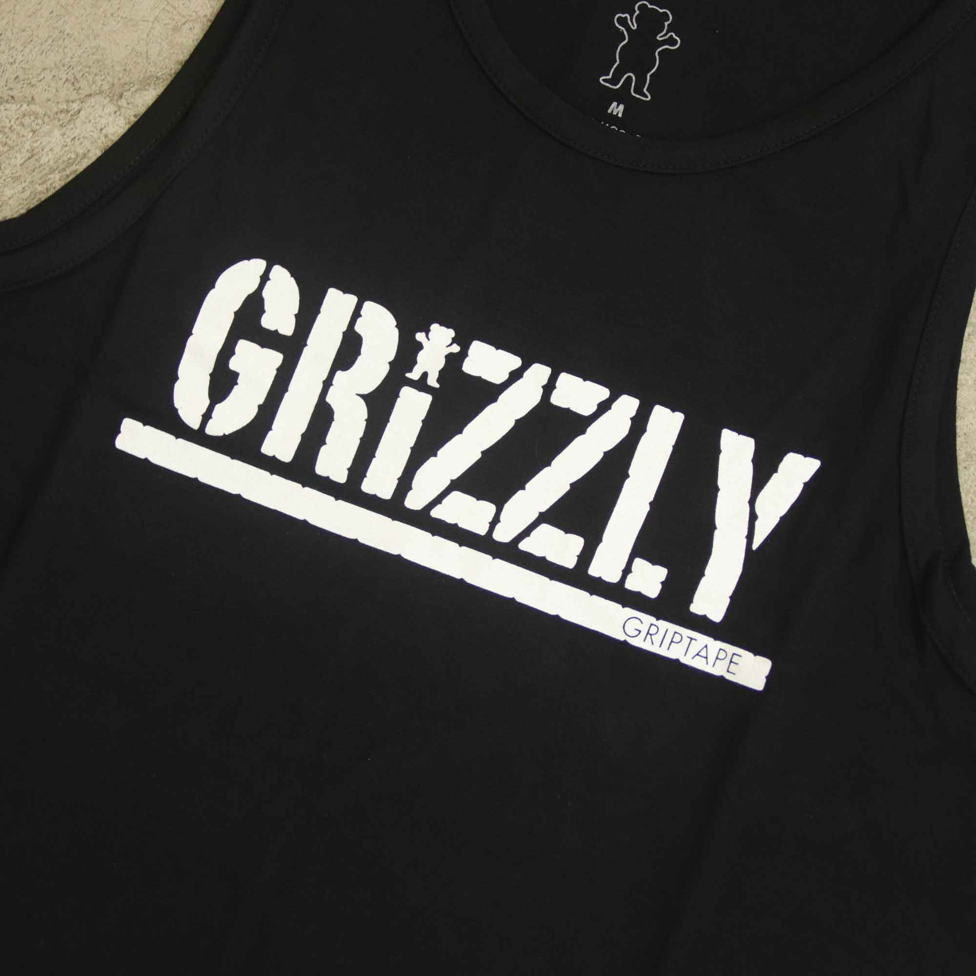 "Regata Grizzly ""Stamped"" Preta"