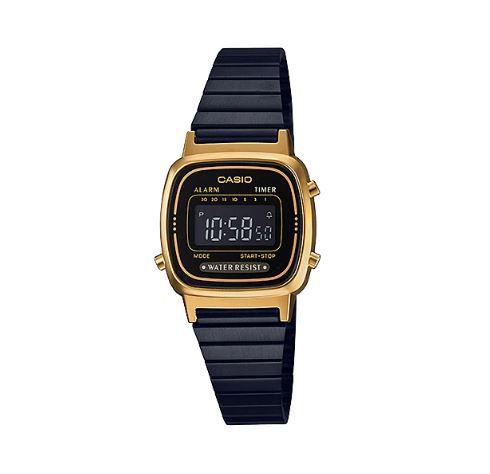 Relógio Casio LA670WEGB BLACK/GOLD