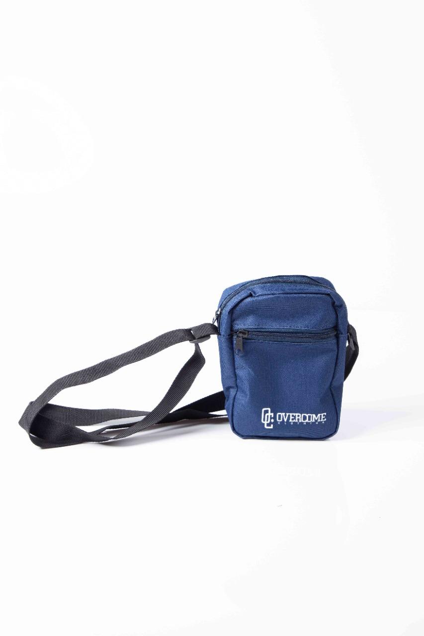 Shoulder Bag Overcome Script Azul Marinho