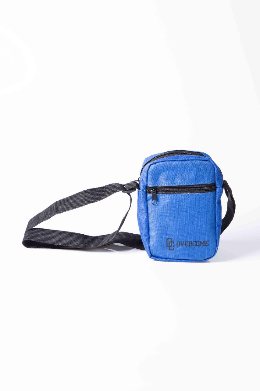 Shoulder Bag Overcome Script Azul Royal