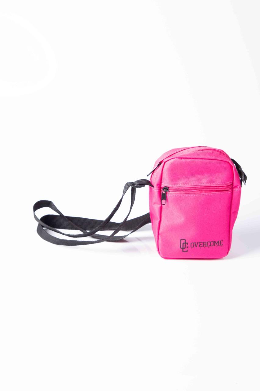 Shoulder Bag Overcome Script Pink