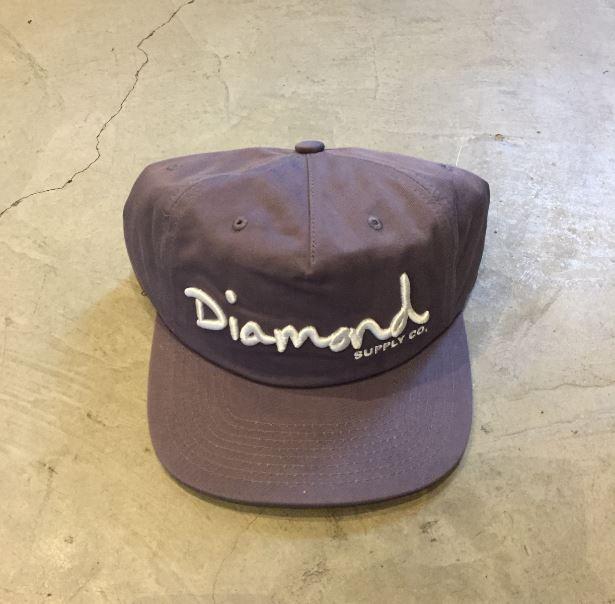 "SNAPBACK DIAMOND ""OG SCRIPT"" DESCONSTRUÍDO CINZA"