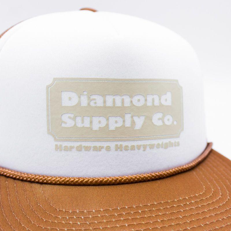 "SNAPBACK DIAMOND ""TRUCKER"" MARROM/BRANCO"